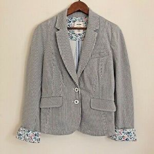 Allihop Anthropologie Striped Blazer